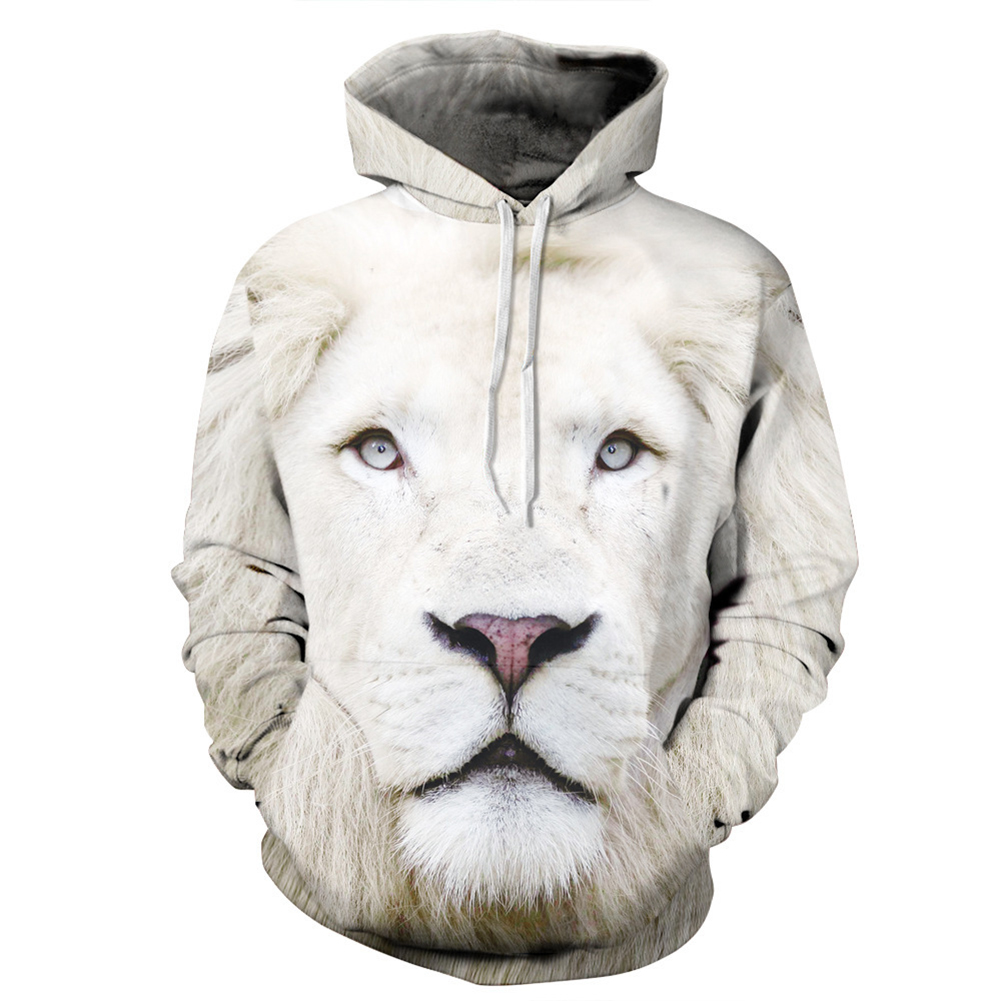 Men Women 3D Lion Printed Fashion Sweatshirt Pullover Hoodie Winter Warm Top