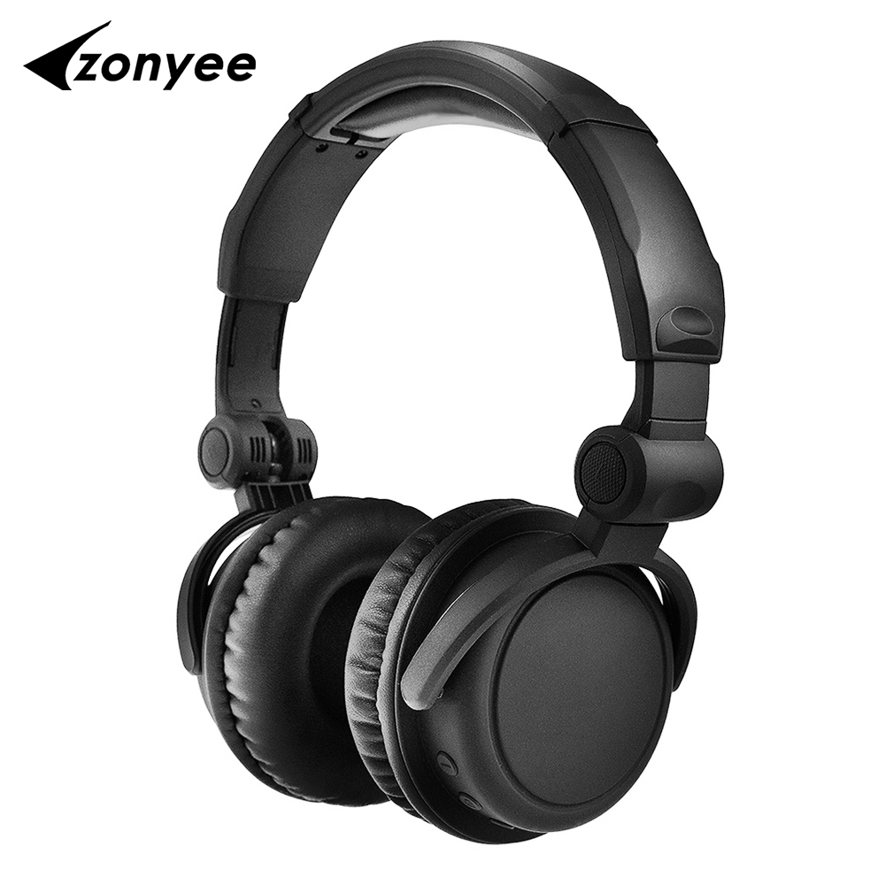 Zonyee HIFI Headphones Stereo Wireless HS-10 Bluetooth Headset Foldable With Mic Soft Earmuffs Deep Bass earphone for phone TV