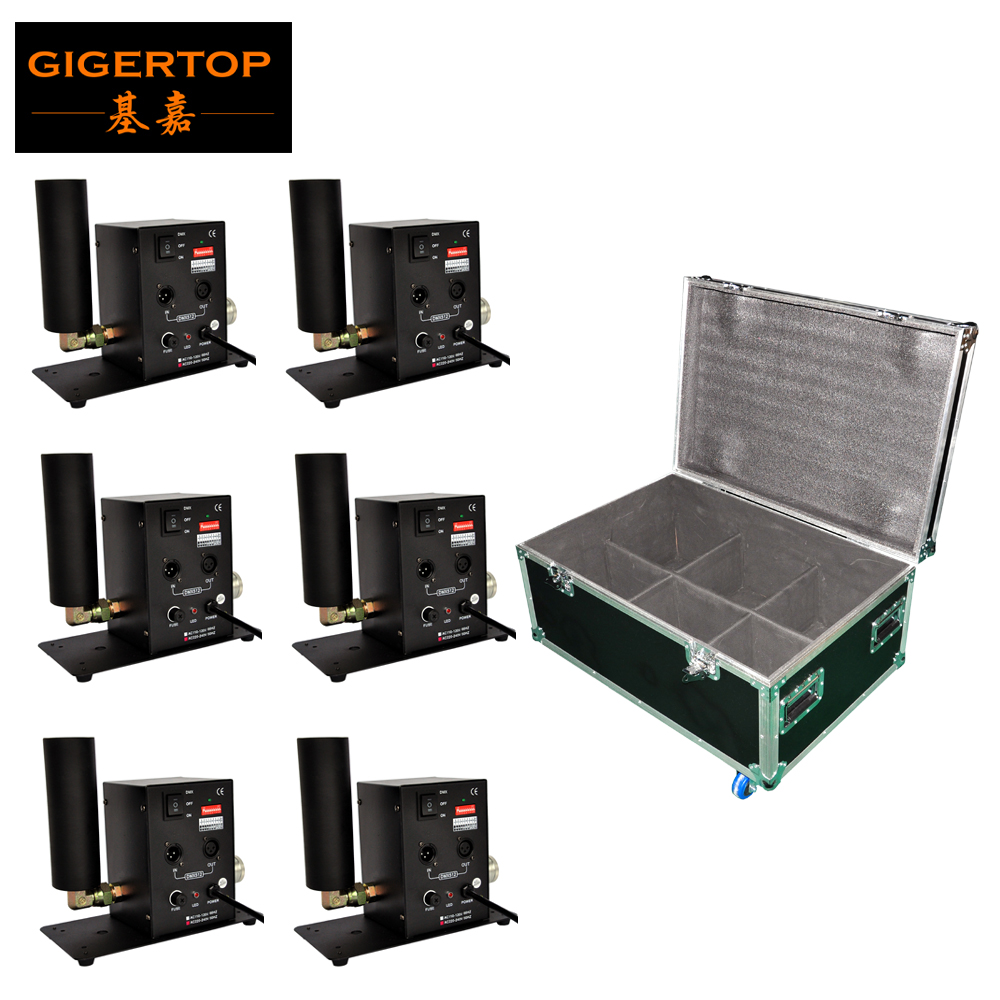 Gigertop TP T27 Single Tube Stage Co2 Jet Machine Manual/DMX512 Control 6IN1 Flight Case Packing Hongsen Gas Valve CE ROHS