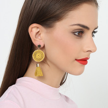 2019 Tin Alloy Tools Women Promotion Brinco Oorbellen Aretes New Knitted Handmade Long Earrings Fashion Wholesale Express