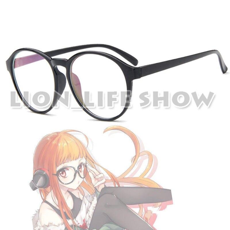 Persona 5 Futaba Sakura Kurusu Akatsuki Black Round Glasses Cosplay Accessory