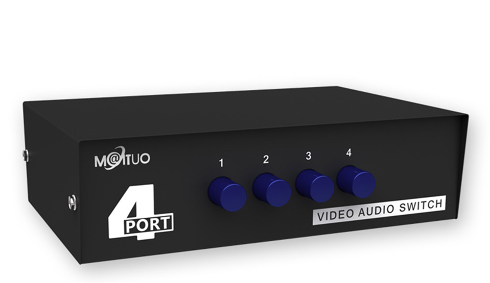 2017 High Quality Original MT-VIKI RCA AV Switch Audio Video Selector 4 Input 1 Output MT-431AV Free Shipping