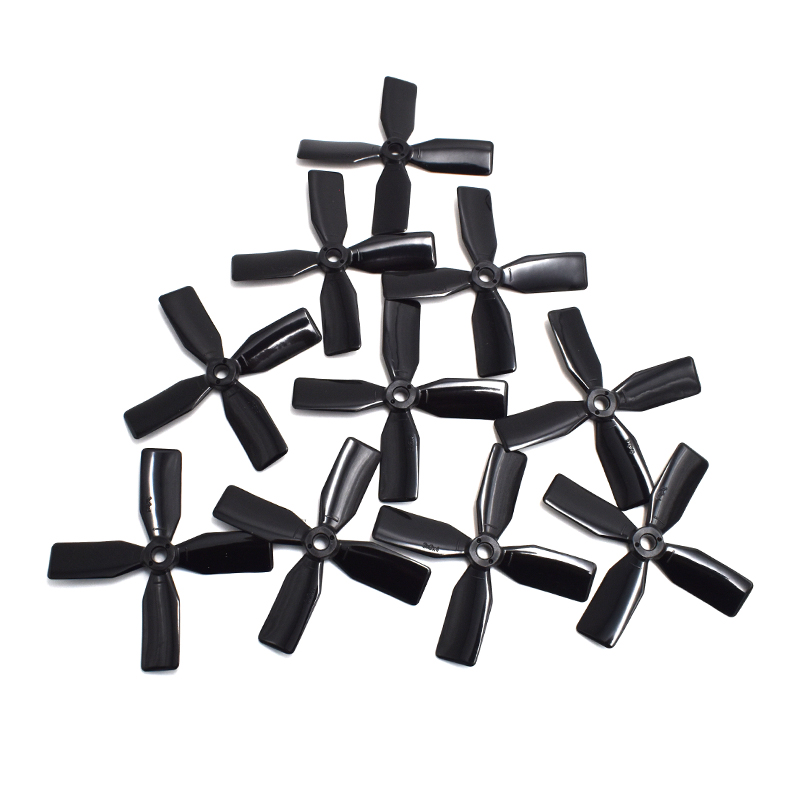 10Pairs Propellers Prop 3 3030 4 Blades 3x3x4 CW CCW Black / Red For DIY 130 150 Racing Quadcopter Mini Drones 4045 propellers prop cw ccw black