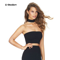High Quality Summer Womens Short Cropped Tank Tops Fashion Sexy Deep V Neck Solid Silm Crop