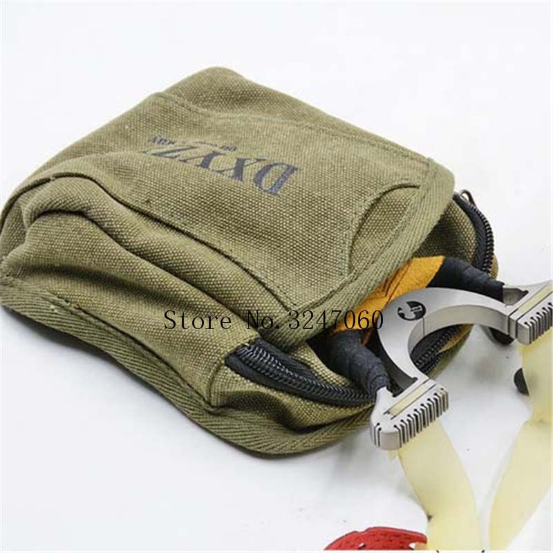 NEW 1pcs Slingshot Fine Material Canvas Bags Balls Bag Case Pouch Holster Sling Shot Hunting Sports Slingshot Accessories