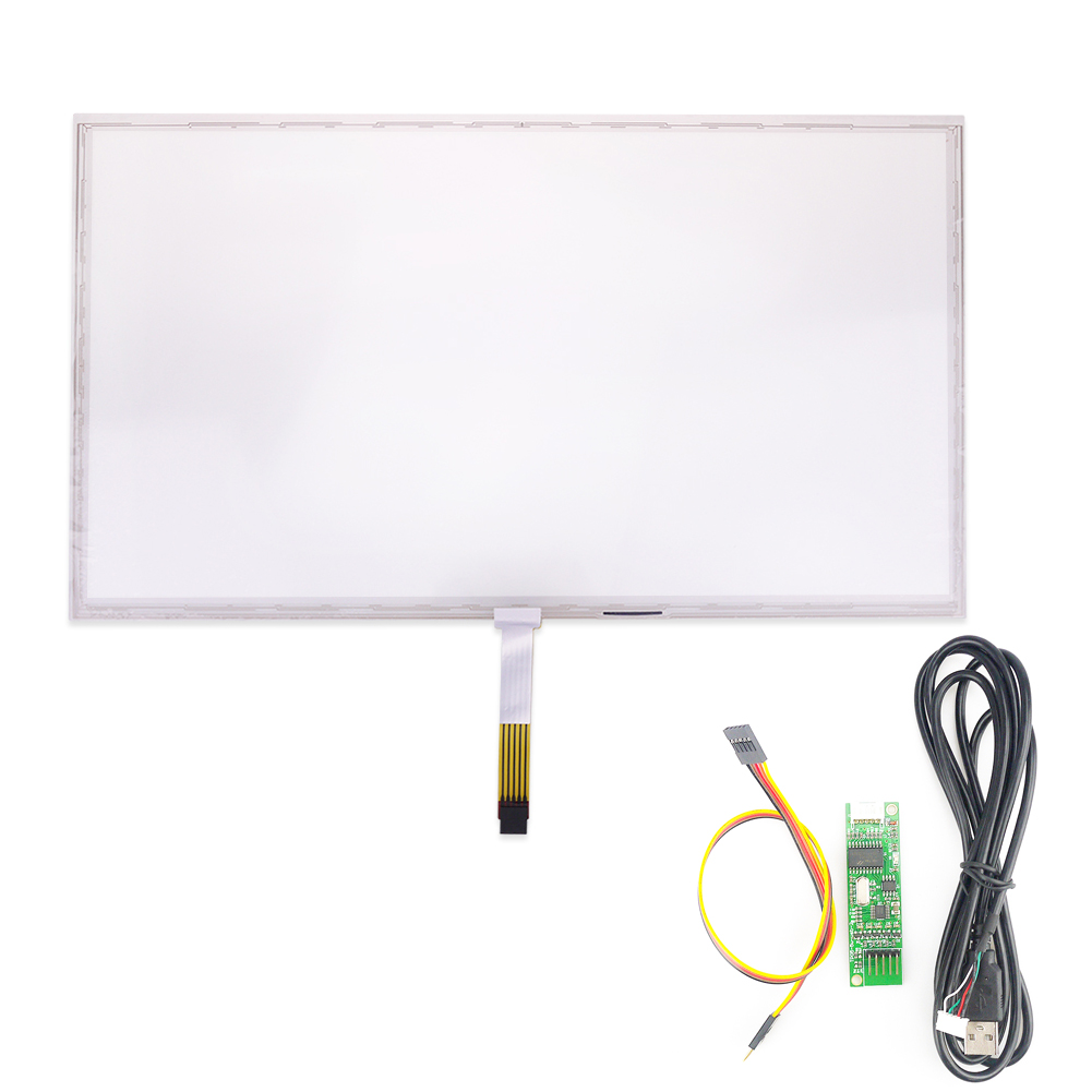 Original For 18.5inch 5wire Intermediate Outlet Resistive Touch Screen+ USB Control Card original 10 4inch 234 178mm 5wire amt 2507 resistive touch screen replacement free shipping