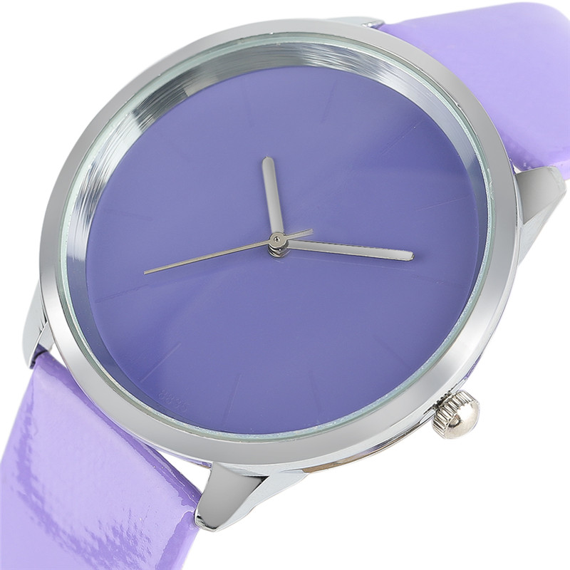 Top South Korea Elegant Women Watch Creative Fresh Candy Color Fashion Leather Female Student Gifts Casual Pointer Clock ulzzang concept of vortex female student individuality creative watch han edition contracted fashion female table