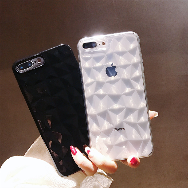 MANTIS for iPhone 7 Case Luxury Diamond Texture Case for iPhone 6 6s 8 8P X 10 Soft TPU Cover Prism Case Elegant Fashion Funda 1