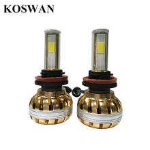 Led Headlight Bulb H8 H11 Conversion Kit COB LED Head Lamp H8 72W 7200Lm Conversion Kit For Honda Kia Mazda Nissan Toyota etc.