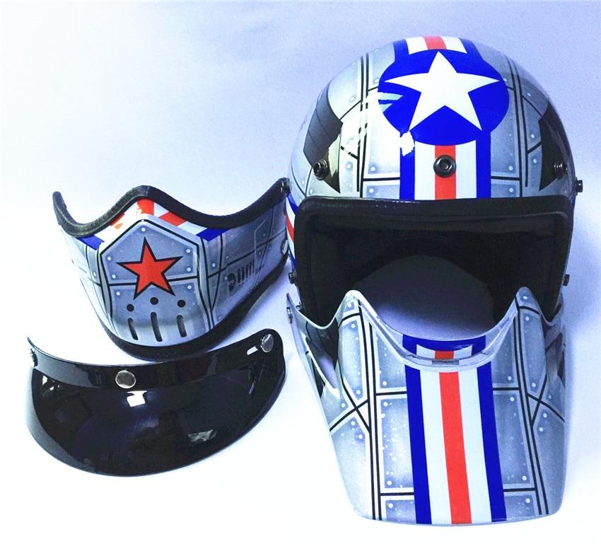 Motorcycle helmet casco de moto cafe racer helmet modular  Full Face dual lens visor capacetes de motociclista