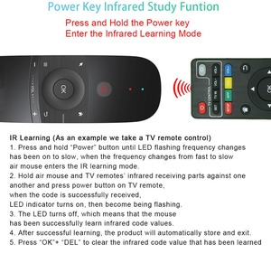 Image 3 - W1 Fly Air Mouse Gyro Sensing Learning Remote Control ricaricabile 2.4G Wireless Mouse Mouse Mouse per Windows per iOS Android