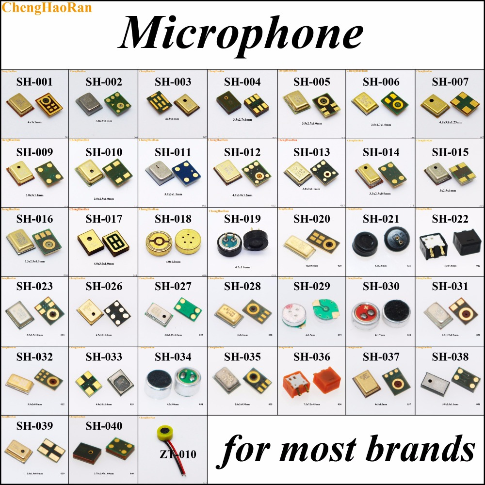 Wholesale 38 Models Microphone Mic Inner Receiver Repair Part For Samsung Nokia HTC For MOTO Huawei Xiaomi For Lenovo Redmi