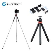 GIZOMOS GP-05ST Легкий Мини нержавеющая сталь Настольный Штатив для путешествий Альпинизм беззеркальных камера Smartphoto 1050 мм