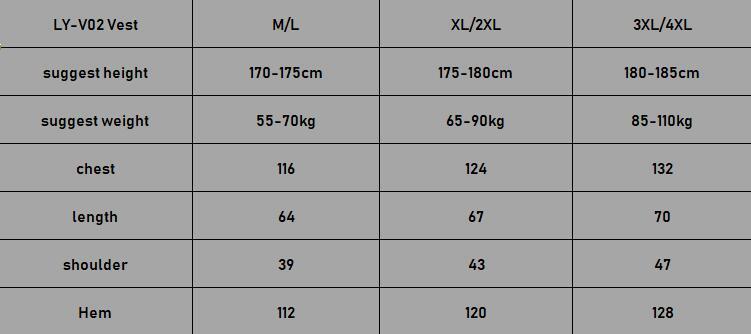 2 size chart