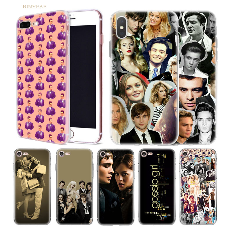 Gossip Girl blair and chuck TPU <font><b>Phone</b></font> <font><b>Case</b></font> Cover for <font><b>iphone</b></font> X XS XR XS Max 5 <font><b>5SE</b></font> 5C 6 6S 7 7S 8 Plus 11 Transparent Soft shell image