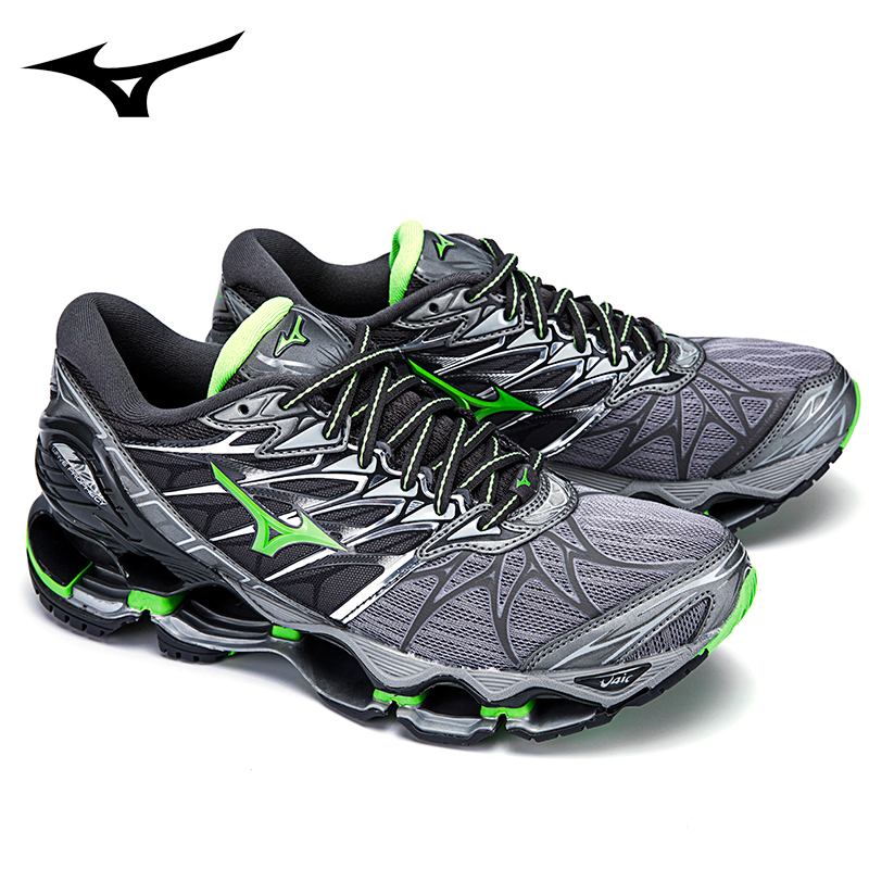 цена на Mizuno Wave Prophecy 7 Professional Sneakers Green Colors Men ShoesRunning Shoes For Men Weight Lifting Size 40-45