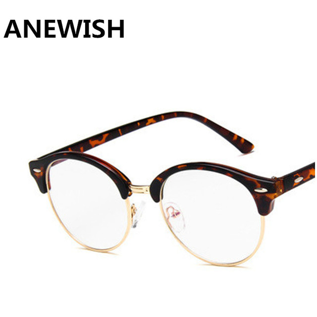605e54d8dc Anewish Vintage EyeglassesFrame Women Black Gold Eyewear Metal Optical  Spectacles Frame Glasses Women Glasses Frames Oculos De
