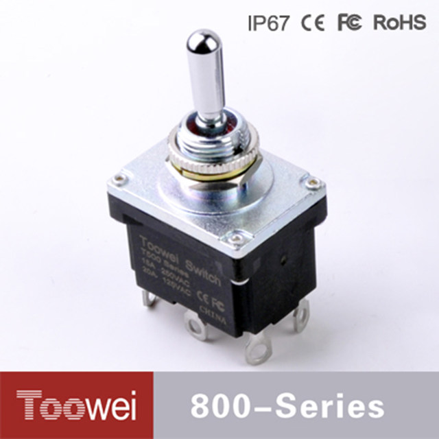 Online Shop 6 pins 3 position Waterproof toggle switch double poles ...