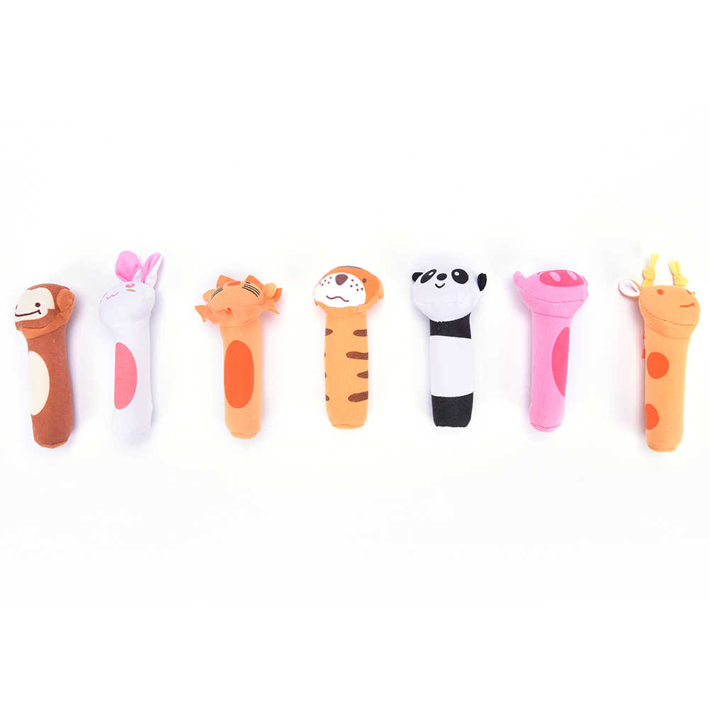 Baby Rattle Toy BIBI Bar Animal Squeaker Toys Infant Hands Puppet Plush-Doll  aS