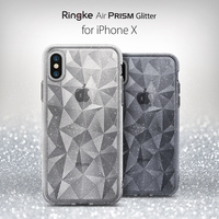 Ringke Air Prism Glitter Case For IPhone X Sparkle 3D Geometric Stylish Pattern Ultra Lightweight Protective