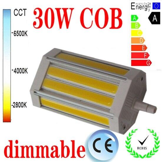 30 w pode ser escurecido r7s conduziu a luz 118mm nenhum fã cob conduziu a lâmpada de inundação r7s j118 luz AC85-265V