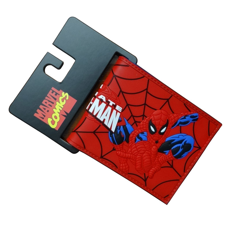 New Arrival Red Spiderman Wallets Cartoon Anime Purse Hero Creative Gift for Boy Girl Money Bags Men Women PVC Short Wallet dc movie hero bat man anime men wallets dollar price short feminino coin purse money photo balsos card holder for boy girl gift