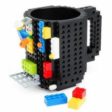 DIY Bloques de Construcción de la Bebida del Café Copa Drinkware Tazas Taza de Puzzle Construir-En Ladrillo Bloque creativo Taza de Café Tipo Lego Regalo de la oficina