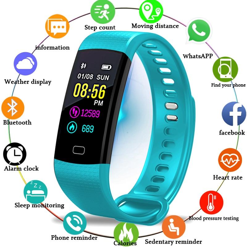 BANGWEI Smart Watch Wristband Fitness Heart Rate Blood Pressure Pedometer Wristwatch Sport Smart Watch Men Women For IOS Android цена 2017