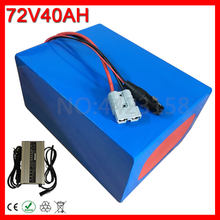 Free Customs Tax 3000W 72V 40AH Electric Bicycle Battery 72V 40AH Lithium Ebike Battery use 3.7V 2500MAH 18650 Cell With Charger(China)