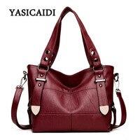 Women Brand Top Handle Bags Pu Leather Luxury Handbags Women Bags Designer Stitching Casual Large Capacity