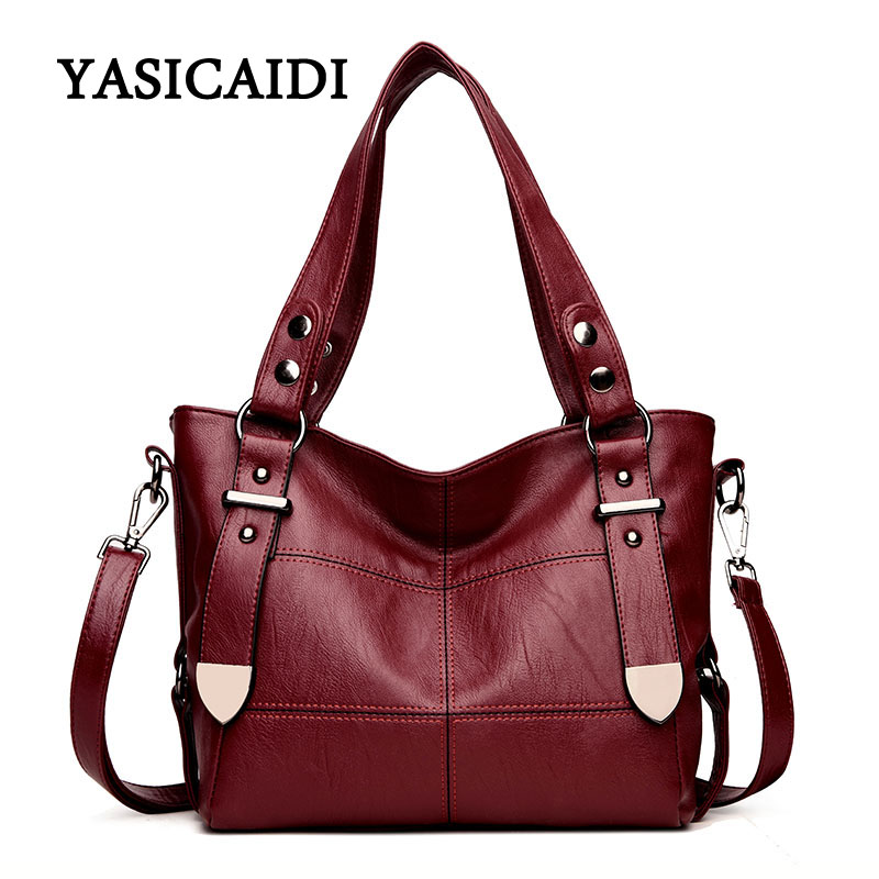 Women Brand Top-handle Bags Pu Leather Luxury Handbags Women Bags Designer Stitching Casual Large Capacity Women Shoulder Bag цены онлайн
