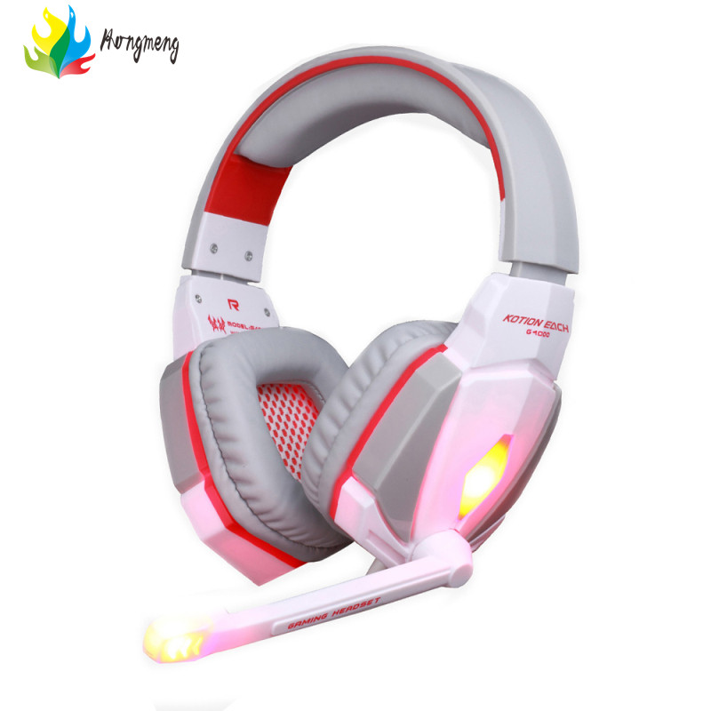 EACH G4000 Pro Gaming Headphones with Microphone LED Light Headset Stereo Surround Headband Fone De Ouvido for Computer PC Gamer kotion each g2000 gaming headset pc gamer headphones headphone for computer auriculares fone de ouvido with microphone led light