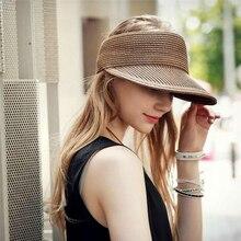 oZyc Hats Women Wide Large Brim Floppy Summer Beach Sun Hat Straw Hat Button Cap Summer Hats For Women Anti-uv Visor Cap Female