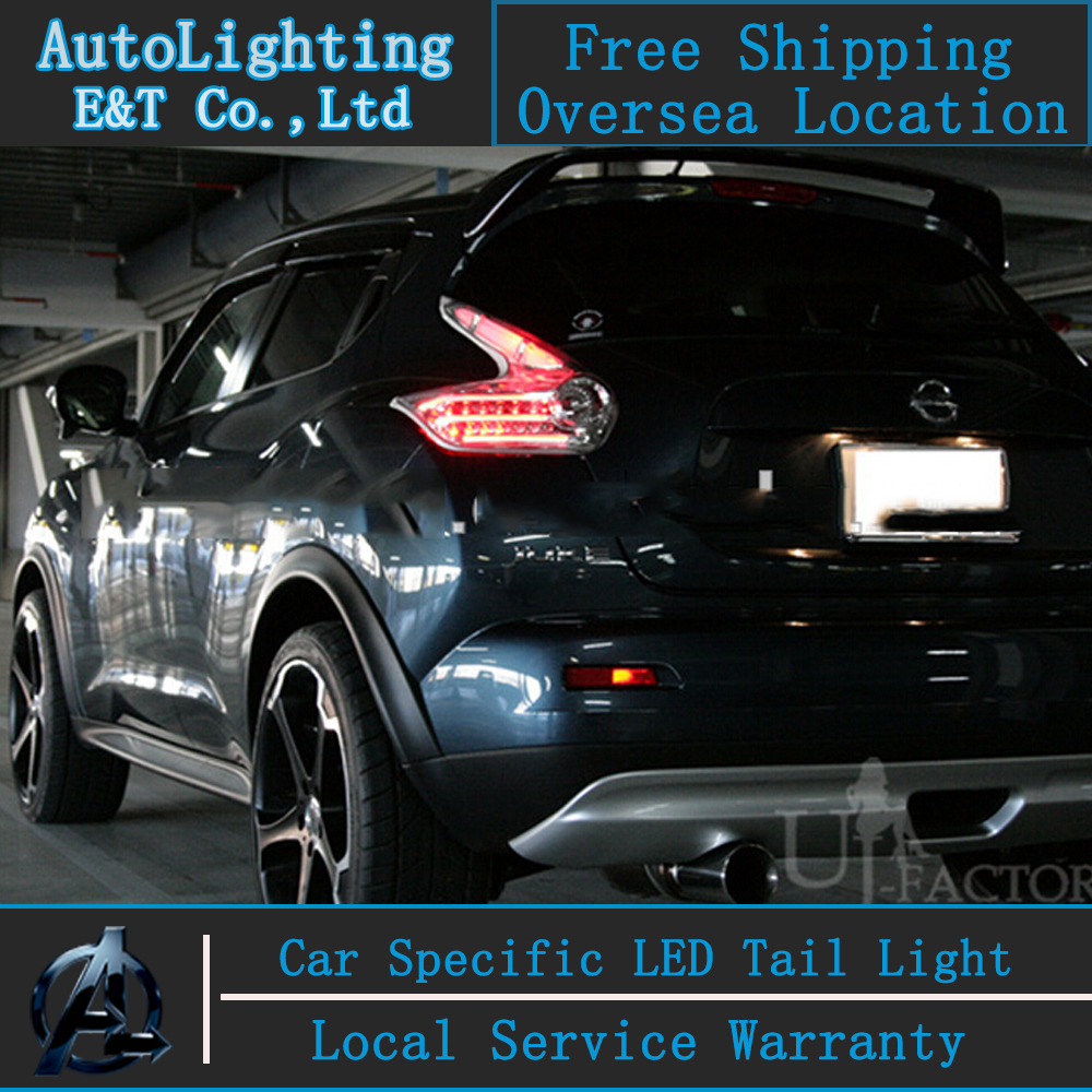 Auto Lighting Style LED Tail Lamp for Nissan Juke taillight assembly 2010-2013 cob rear trunk lamp cover drl+signal+brake 2pcs. for nissan x trail 2008 2009 2010 2011 2012 2013 retractable rear cargo cover trunk shade security cover black auto accesaries