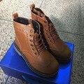 CCTWINS NIÑOS niñas otoño invierno marrón martin botas para niños zapatos de bebé de cuero genuino niños botas niños botas de moda negro