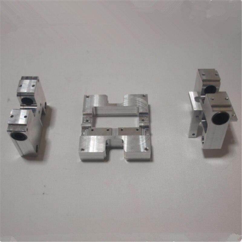 LM10UU Mise À Niveau en alliage d'aluminium CNC X transport + Y axe transport assembler kit pour Maker Réplicateur FlashForge CTC MBot3D Wanhao