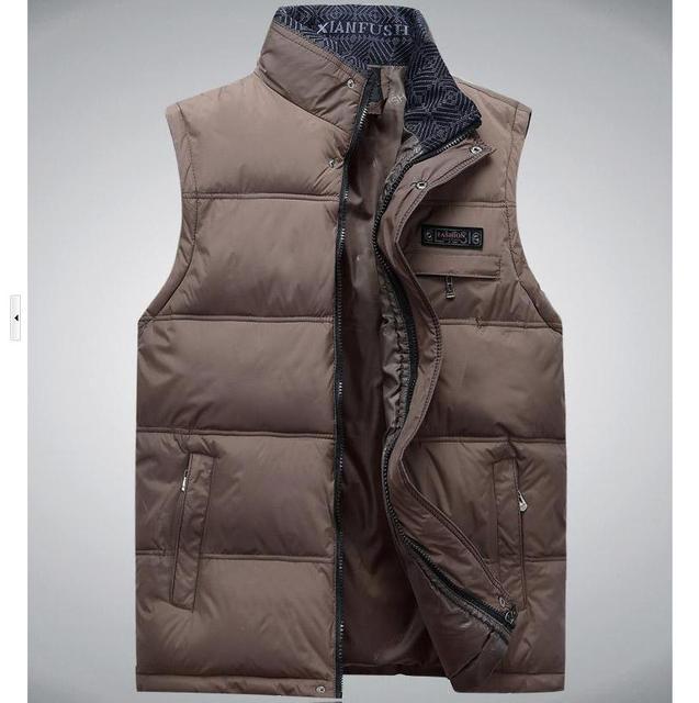 Новые зимние мужчин свободного покроя теплый жилет Большой размер м-xxxxl 2016 супер качество карманный дизайн мандарин воротник человек мода жилет