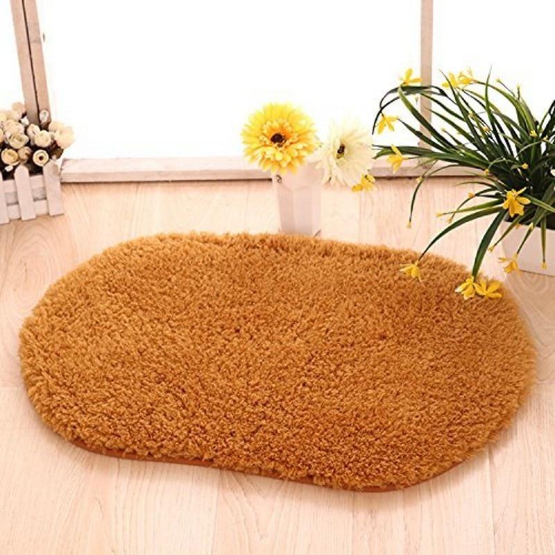 Oval Berber Fleece Carpet Ellipse Shape Soft Rug Artic