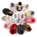 [blueshine] PU Suede Leather Baby Moccasins, Baby Girl Boy Shoes,Soft bebe Shoes Anti-slip footware Infant Toddler First Walkers