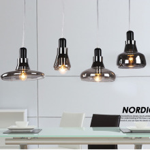 Nordic Modern Glass Pendant Lamp Fixtures E27 LED White Smoke gray Pendant lights for Kitchen loft hanging living room bedroom недорого