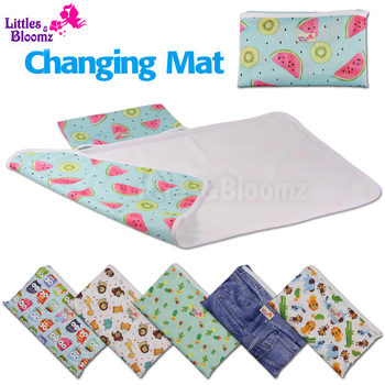 [Littles&Bloomz] Baby Portable Foldable Washable Compact Travel Nappy Diaper Changing Mat Waterproof Floor Change Play Mat 1