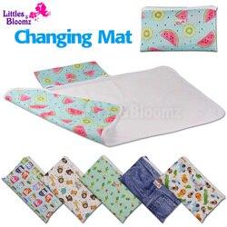 [Littles & bloomz] tapete de viagem, fralda portátil, dobrável, compacto, lavável, impermeável, mudança de chão, tapete para troca de bebê