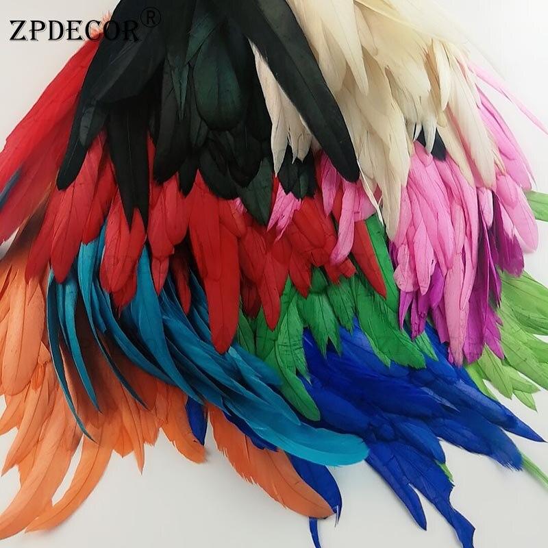 12 ~ 14 pulgadas 30 ~ 35CM plumas de gallo o plumas de pollo