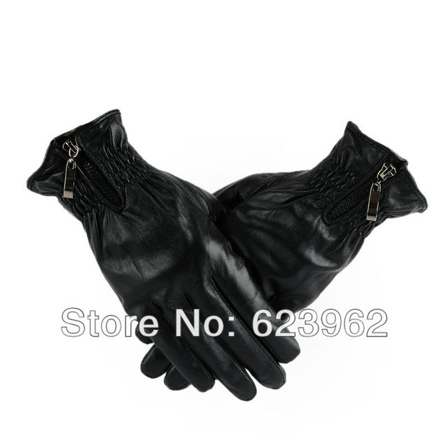 Good quality new fashion leather gloves winter men ML XL