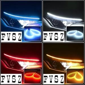 Image 5 - 2Pcs 60cm אוטומטי מנורות עבור רכב DRL LED בשעות היום ריצת אורות מכוניות סטיילינג איתות מדריך רצועת אבזרים פנס הרכבה