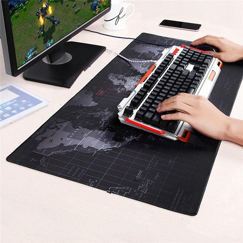 900x400 мм Скорость большие Старая карта мира игр Мышь Pad блокировка клавиатуры край геймер Мышь мат для портативных компьютеров бюро