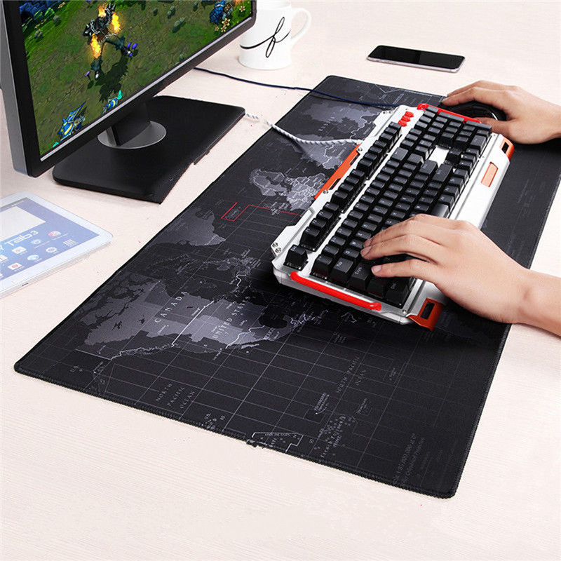 900x400mm Speed Large Big Old World Map Gaming Mouse Pad keyboard Lock Edge Gamer Mousepad Mat for Laptop Computer Desk office