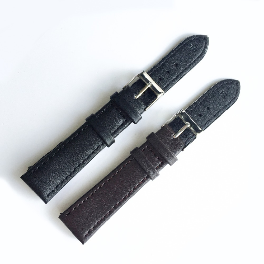 Simple brown / black leather watch strap 18mm clock watches Women 2017 best selling watches men watch accessories Watchband X001 001 mystery brown