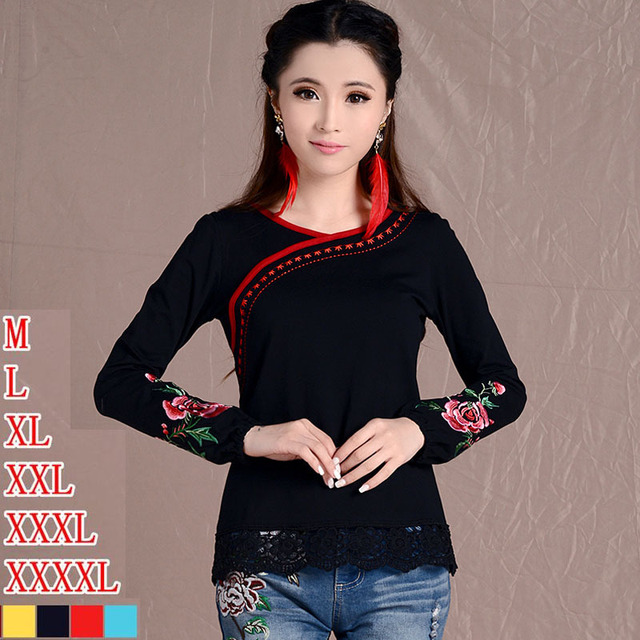 2018 Fashion Long Sleeve Plus Size Clothes Women Ethnic Mexican