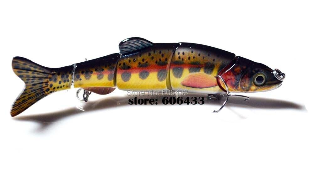 Deep Sea Fishing Fish Multi section Lure Lures 5 Segment Swimbait Crankbait 16cm/33g 8013-FL501 Free shipping
